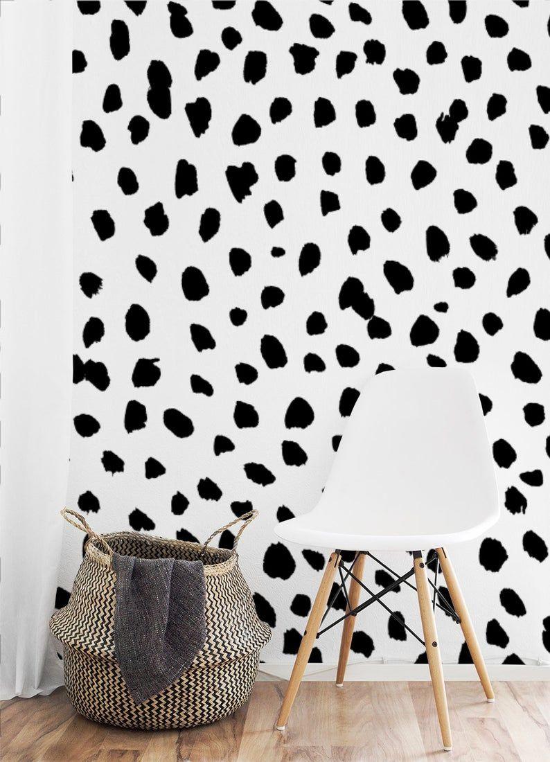 Spotty Dalmatian Large Wall Mural Dots Peel And Stick Etsy Large Wall Murals Removable Wall Murals Wall Murals