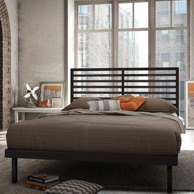 Williston Forge Pellegrin Platform Bed Steel Bed Frame Metal