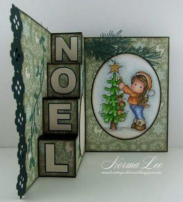 Von meinem Bastelzimmer: NOEL - 4-Stufen-Karte