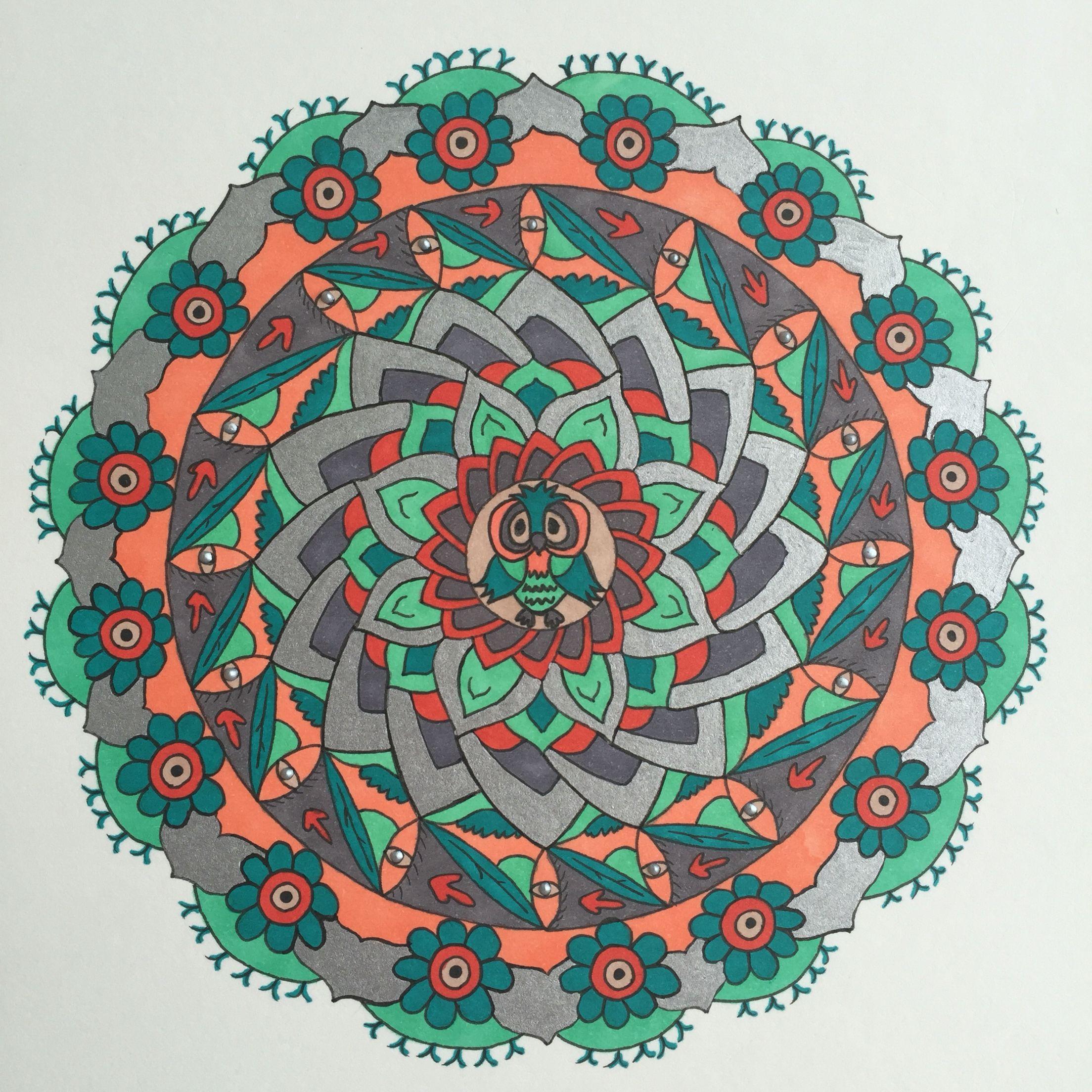 Color art mandala wonders - Wisdom Burgeoning Into Happiness Mandala In Color Wisdom Knowledge Wonder Joy
