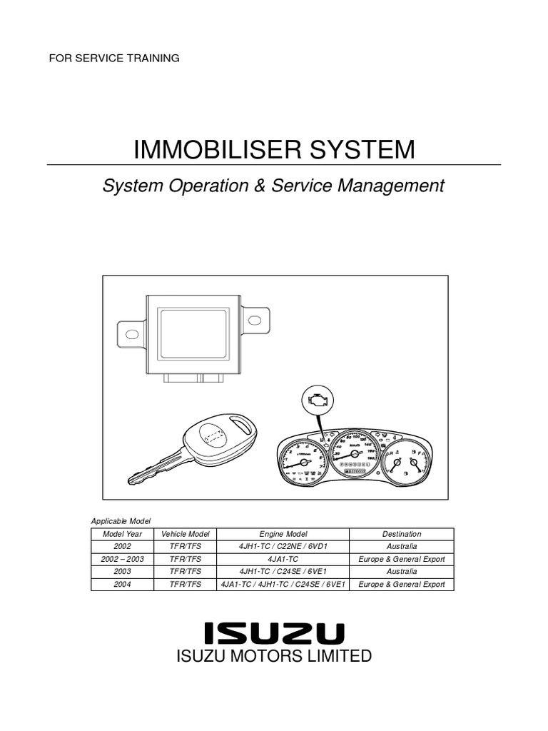Inmovilizador Izusu Rodeo In 2020 System Isuzu D Max Relay