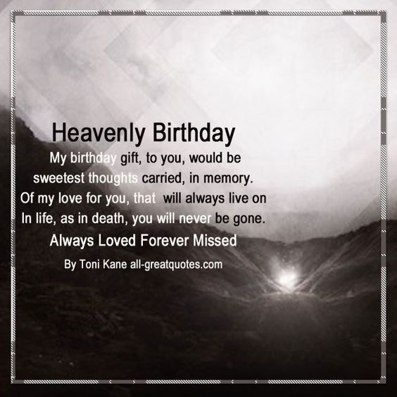 Heaven Birthday Wishes For Loved Ones In