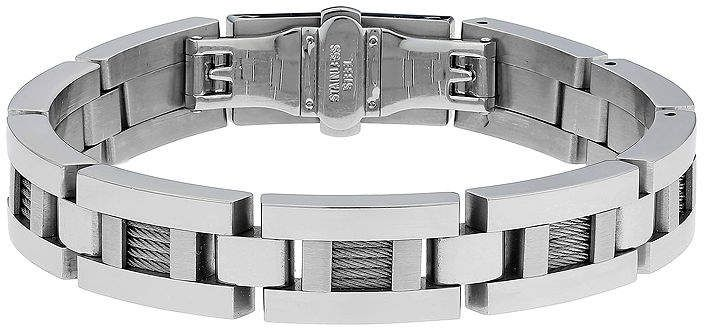 085764b3916 JCPenney FINE JEWELRY Mens Stainless Steel   Cable Link Bracelet ...