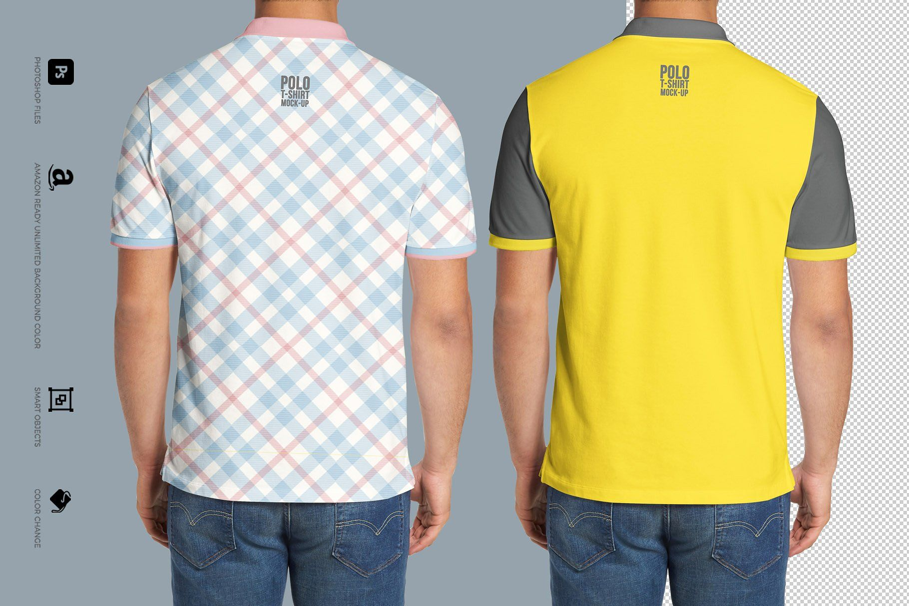Polo T Shirt Mockup Front And Back Psd Free Polo Shirt Mock Up Apparel Design Shirts Polo Shirt