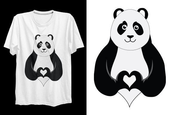 Panda T-shirt Design #Sponsored , #Ad, #Panda, #shirt, #Design