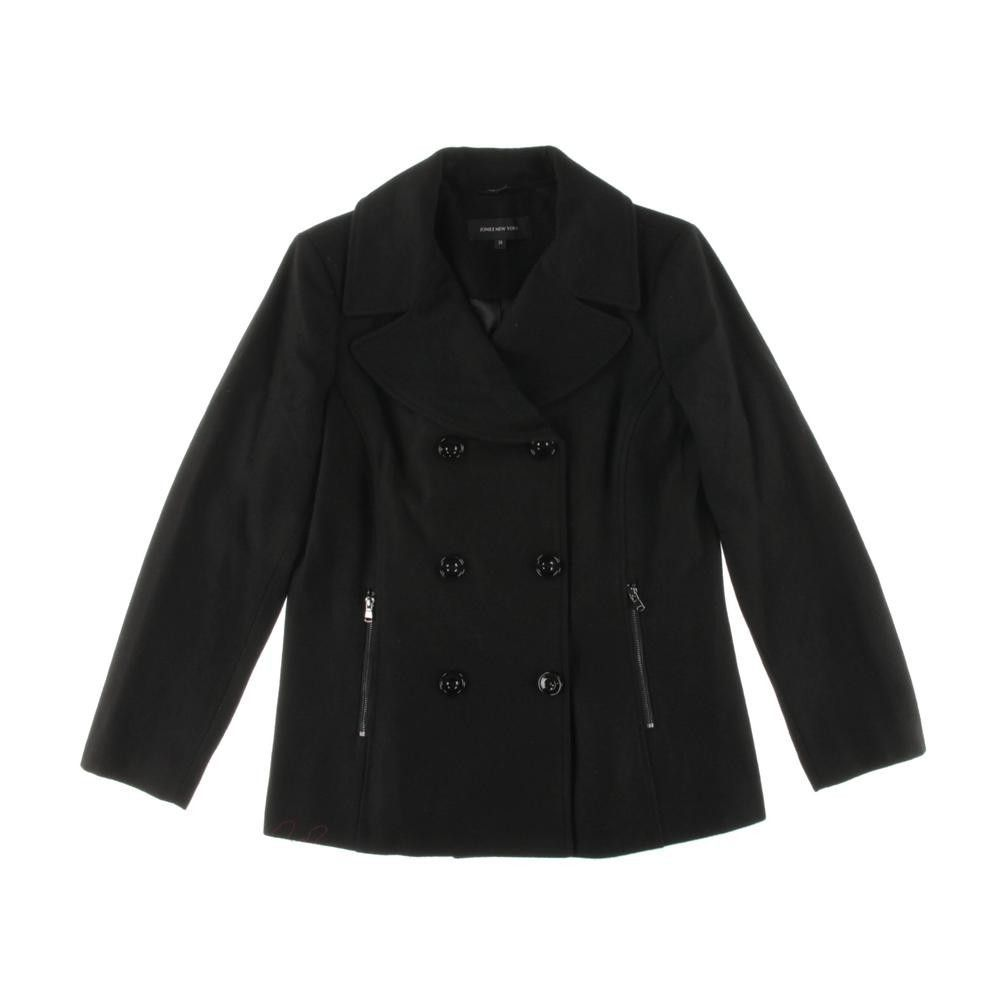 Jones New York Womens Wool Double-Breasted Pea Coat