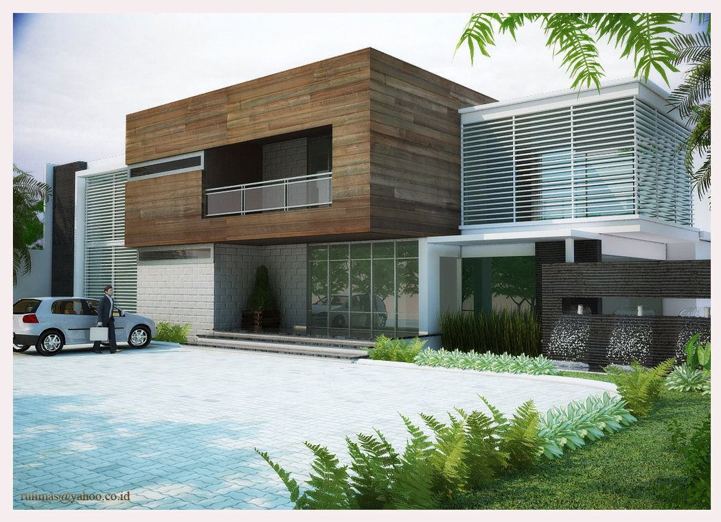 Image gallery modern office exterior for Front house exterior design
