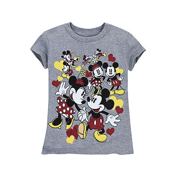 Minnie and Mickey Mouse Tee for Girls ($13) found on Polyvore