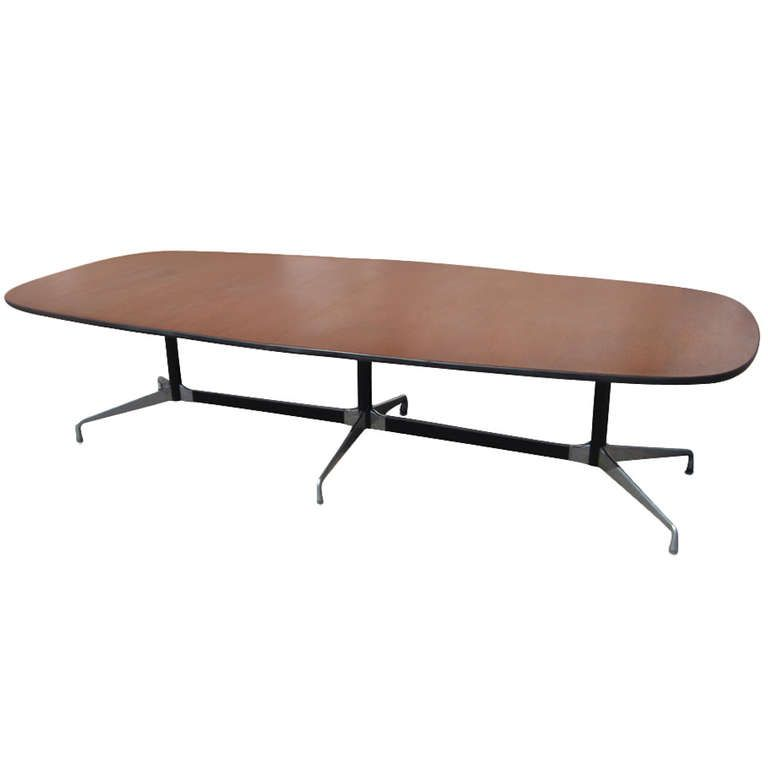 10 Ft Herman Miller Eames Walnut Racetrack Conference Table 1stdibs Com Actual Vintage 8 000 Conference Table Eames Furniture