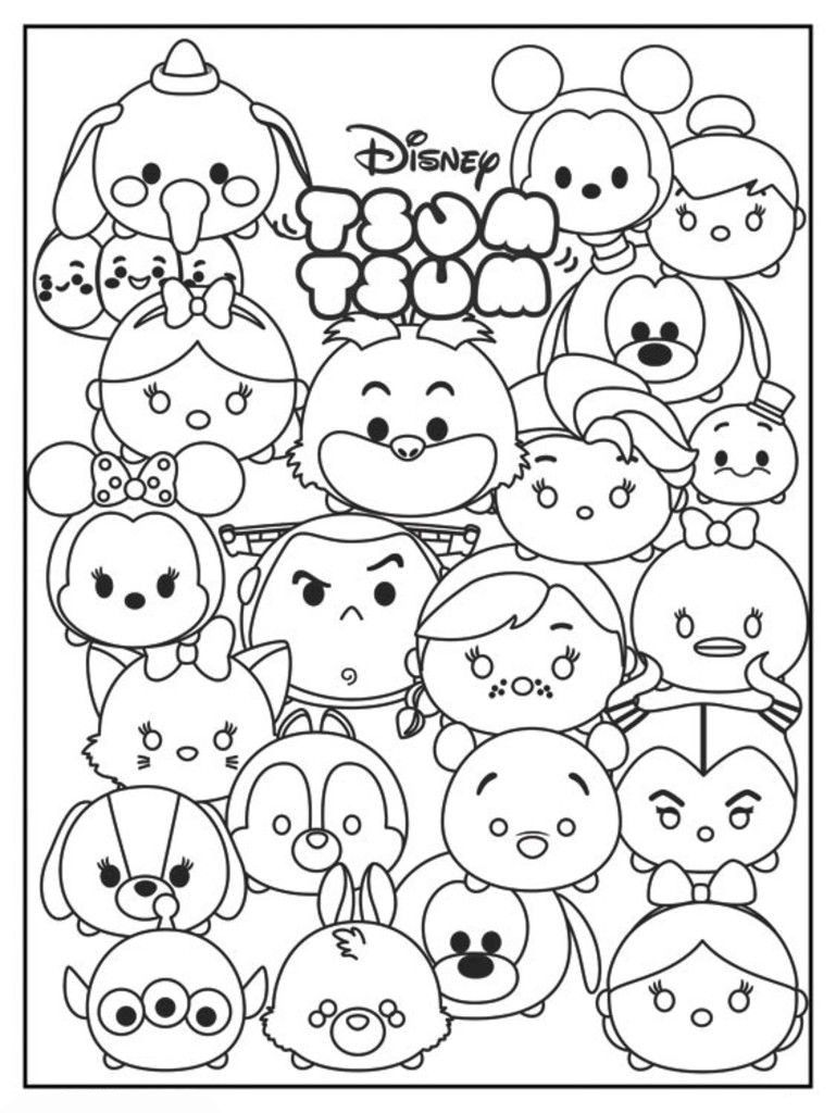 Tsum Tsum Coloring Pages Best Coloring Pages For Kids Tsum Tsum Coloring Pages Cute Coloring Pages Disney Coloring Pages