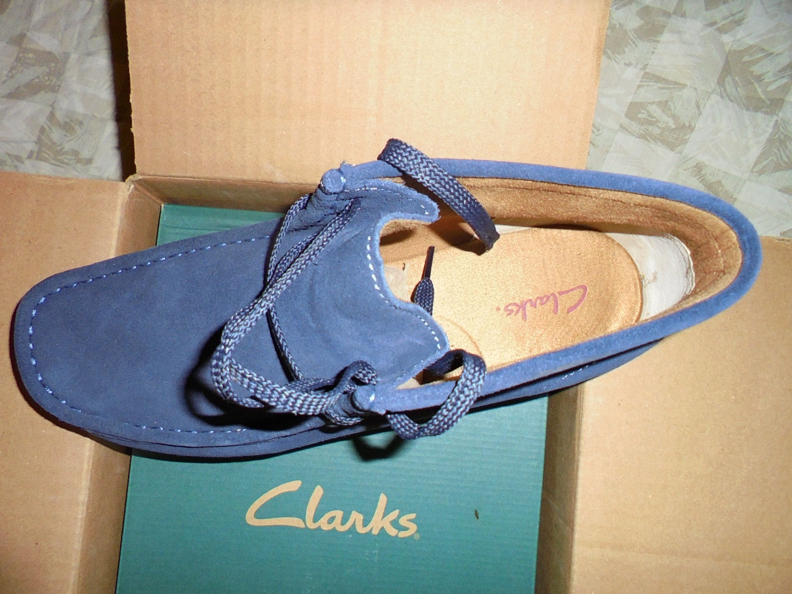#NavyBlueSuede #Padmores by #ClarksWallabeeUSA - www.drewrynewsnetwork.com/forum/reviews