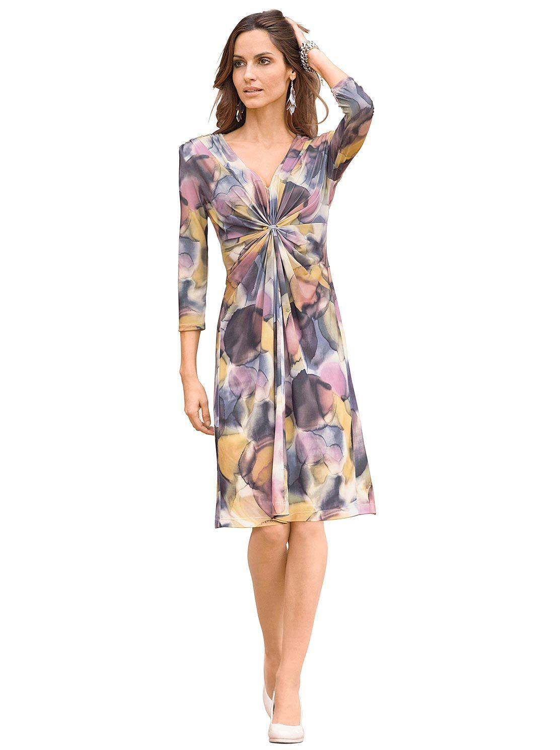 Jersey-Kleid in rosé-bedruckt 12,12 € kaufen bei WITT WEIDEN