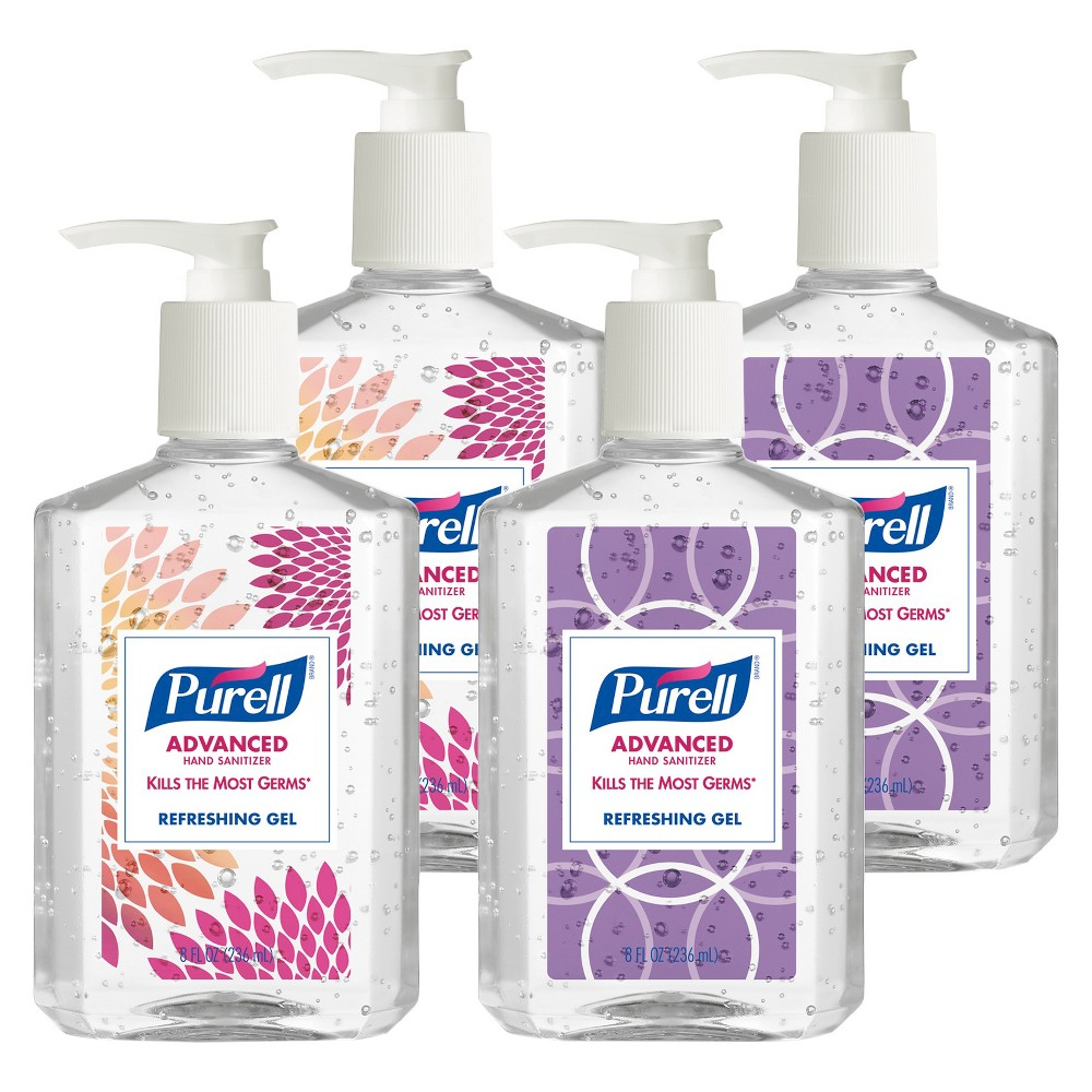 Purell Advanced Refreshing Gel Hand Sanitizer 8 Fl Oz 4ct Hand