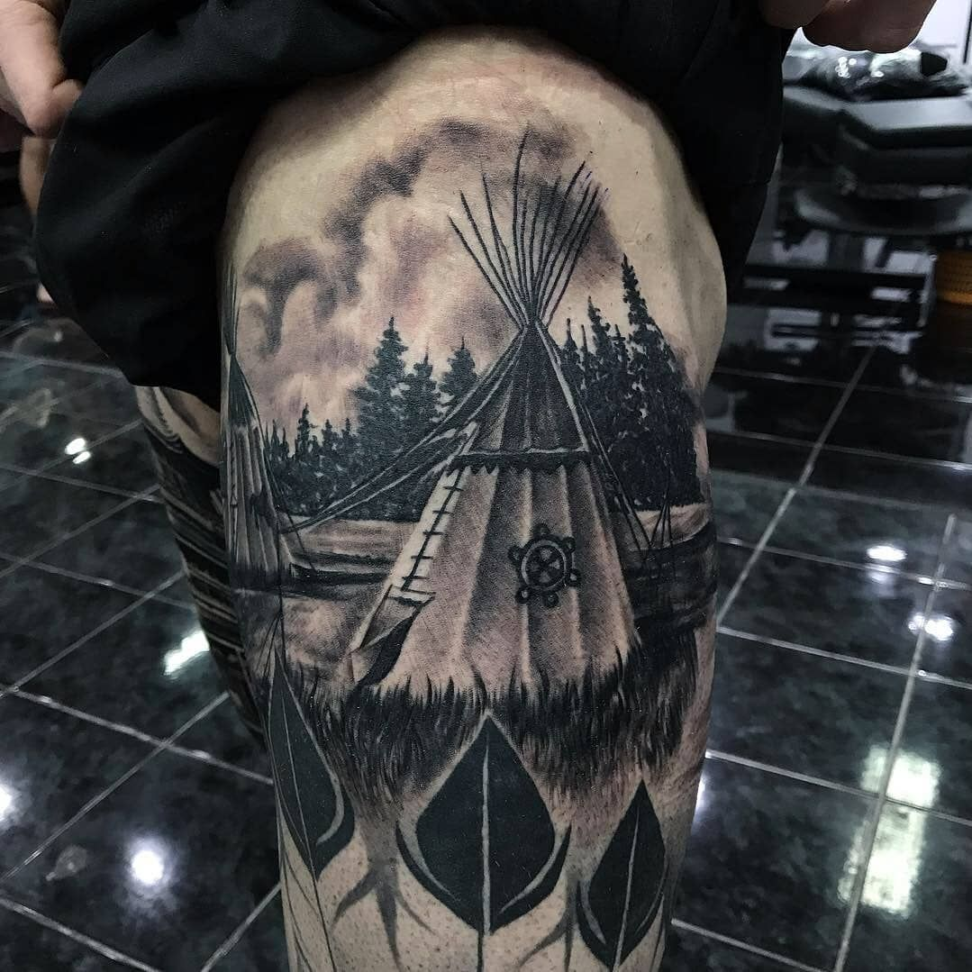 Native American Tipi Tattoo