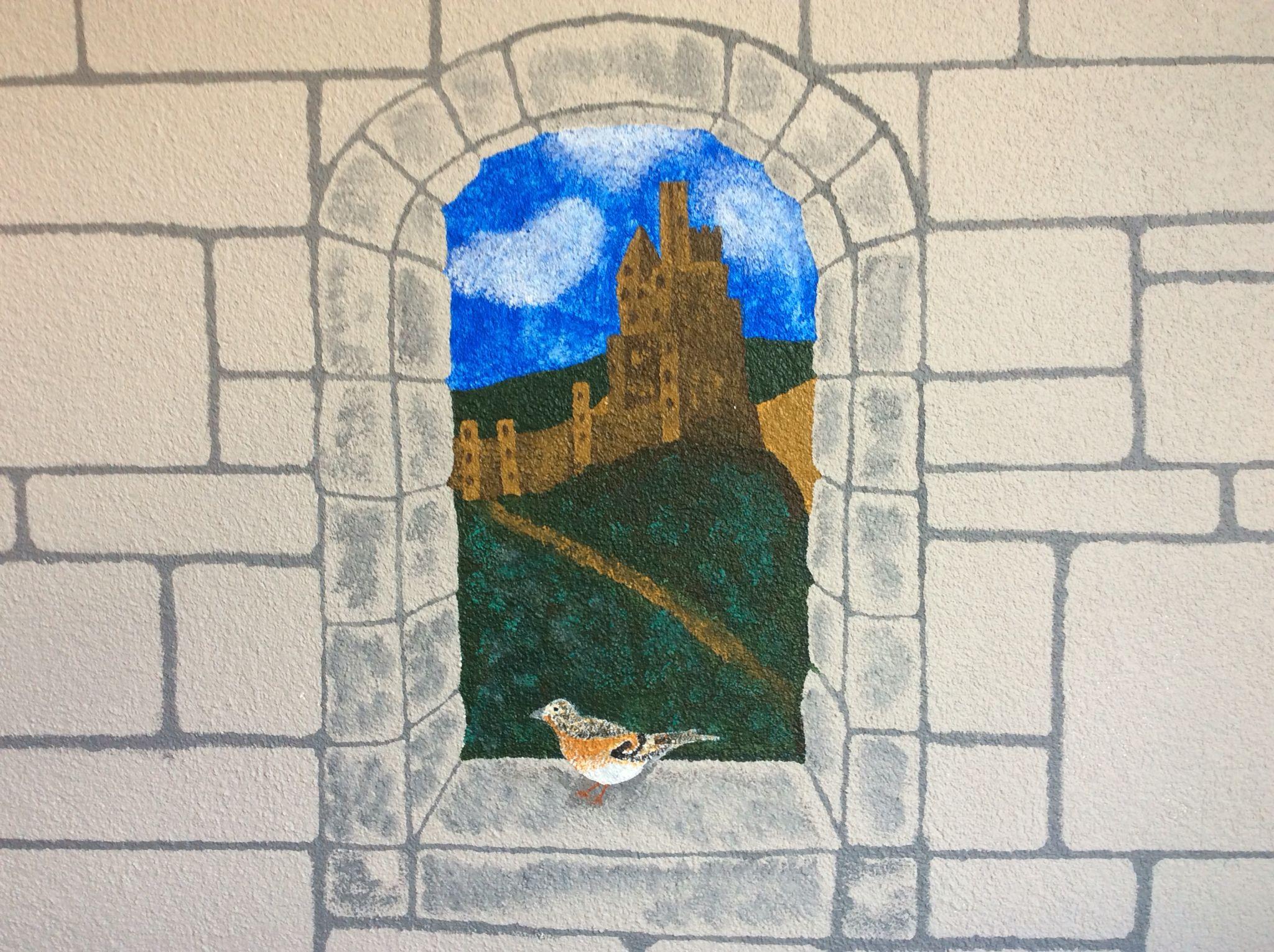 Burgfenster im Kinderzimmer