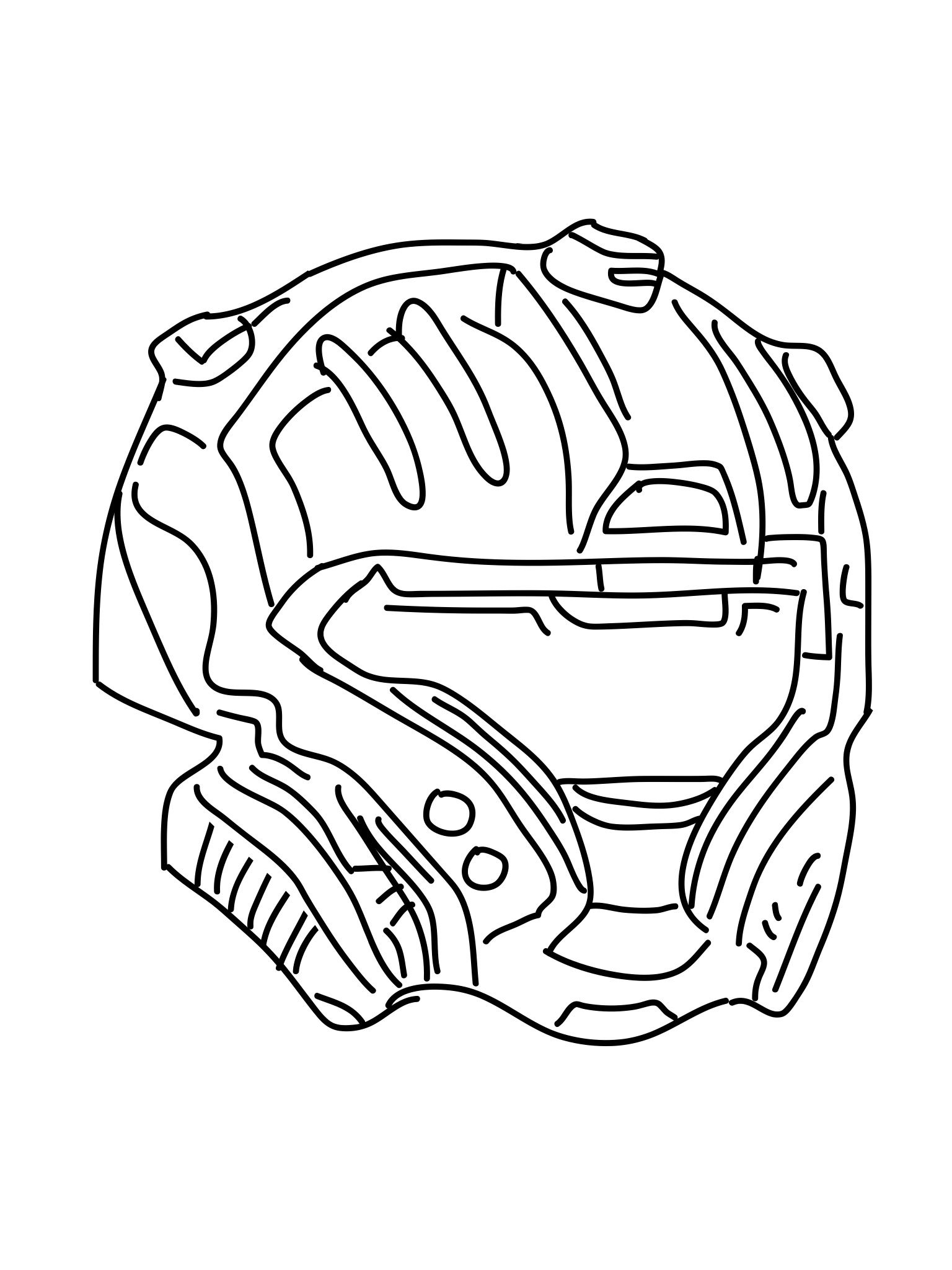 This is a picture of Dynamic Halo Helmet Drawing