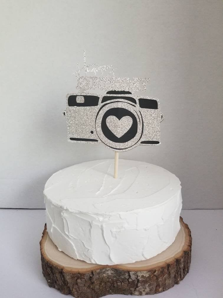 Excellent Camera Cake Topper Happy Birthday Photographer Cake Topper Camera Birthday Cards Printable Trancafe Filternl