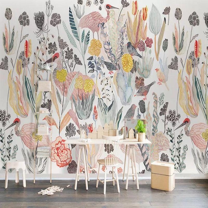 Find More Wallpapers Information About Photo Wallpaper 3d Abstract Art Tropical Plant Bird Murals Living Room Bedroom Dinin Custom Murals Mural Mural Wallpaper