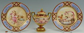 Royal Vienna Classical Nudes Urn & Plates, 3 : Lot 141. This lot was sold for $250 at our January 26, 2013 auction.