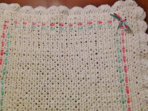 How To Loom Knit A Baby Blanket Knitted Baby Blankets Loom Knit