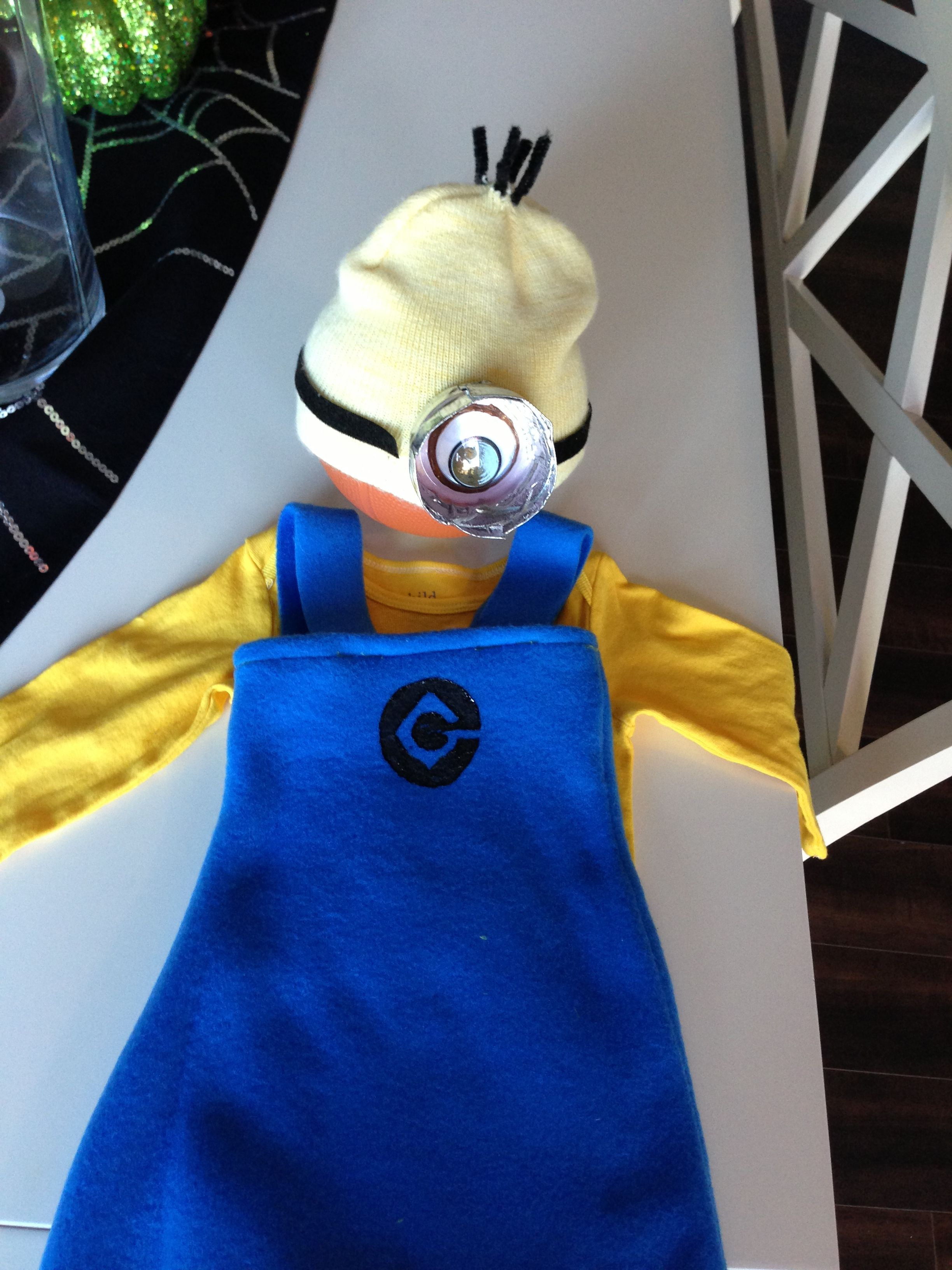 Our version of a  minion costume.