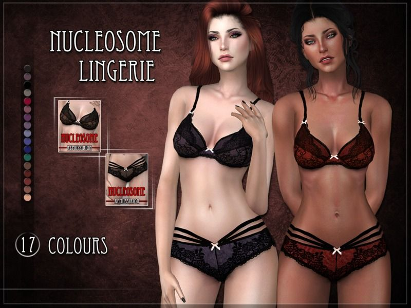 062a9f07fa Nucleosome Lingerie Set for the Sims 4 Found in TSR Category  Sims 4 Sets
