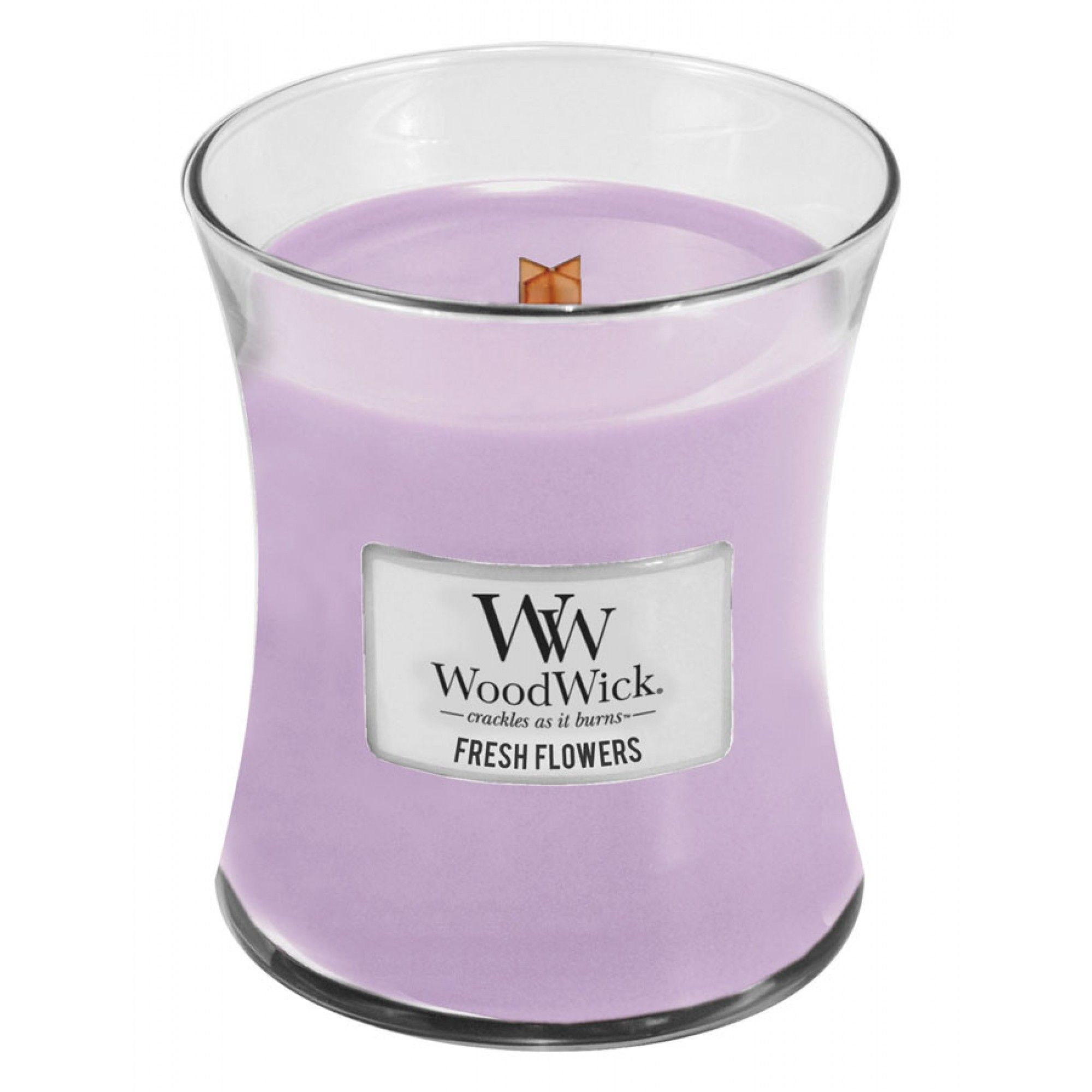 Fresh Flowers Medium WoodWick Candle Wood wick candles
