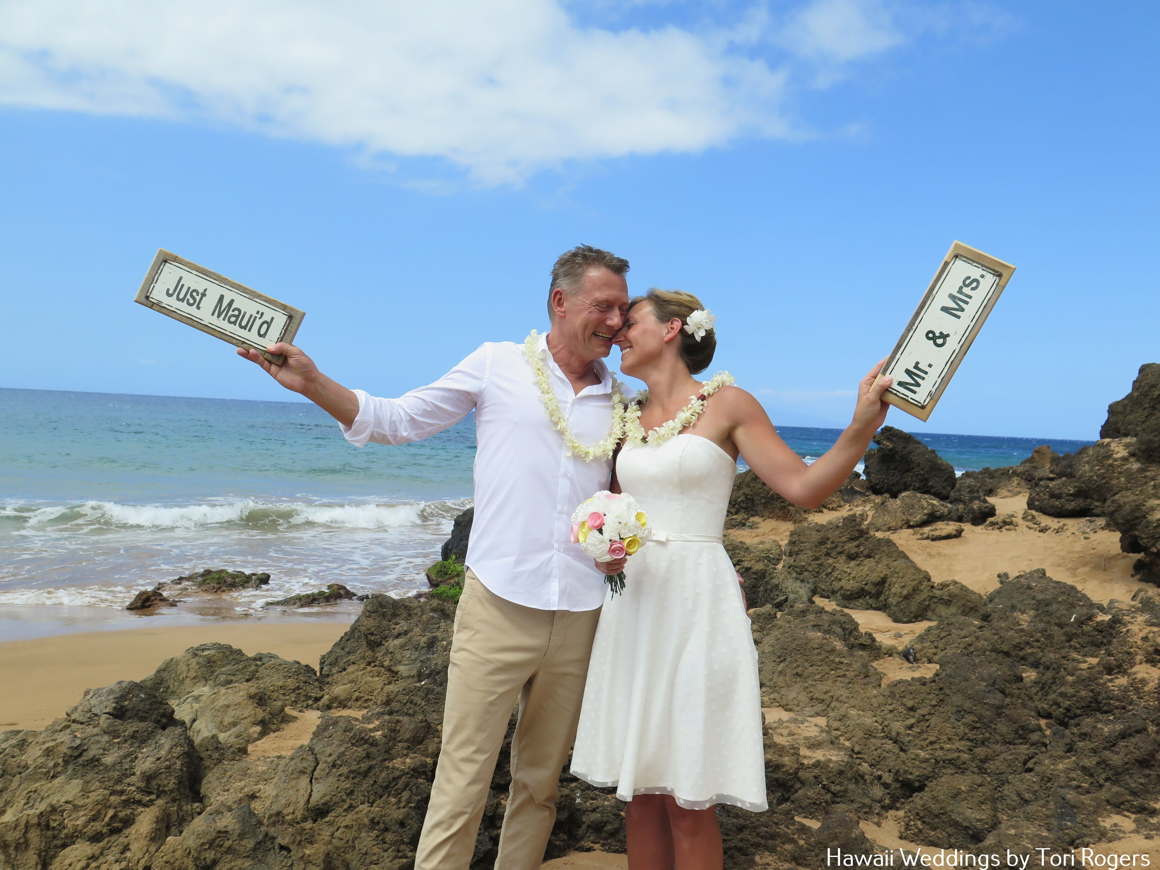 Just Mauid And Mr Mrs Signs Hawaii Weddings By Tori