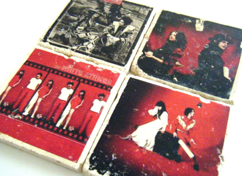 The White Stripes Album Cover Coaster Set of Four. $22.00, via Etsy.