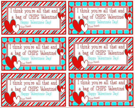 photo regarding You're All That and a Bag of Chips Printable called Printable Valentine Youre all that and a through