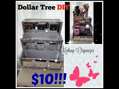 Diy Glamour Bling Mirror Tray Dollar Tree Craft All That