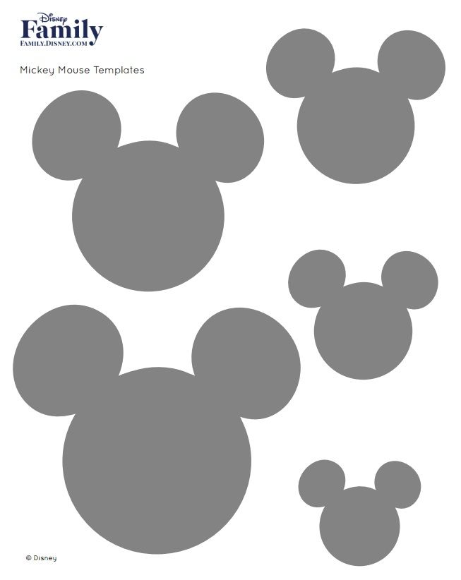 Goede Mickey Mouse Template (met afbeeldingen) | Disney silhouetten XF-41