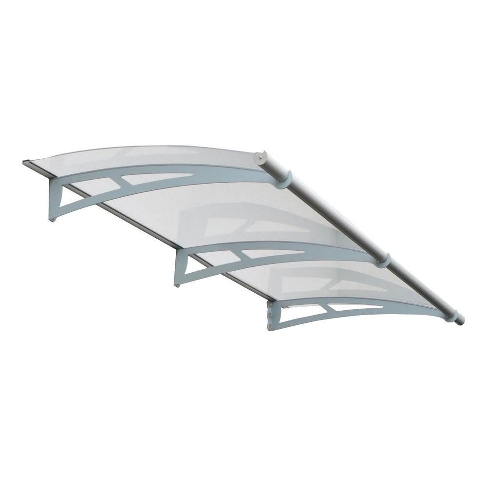 Palram Aquila 2050 6 Ft 9 In Clear Door Canopy Awning 701125 The Home Depot Door Awnings Clear Door Canopy Door Canopy