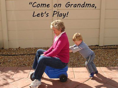 Let's play, grandma! This is too cute!!! And looks like something this mimi would do for her boys:)