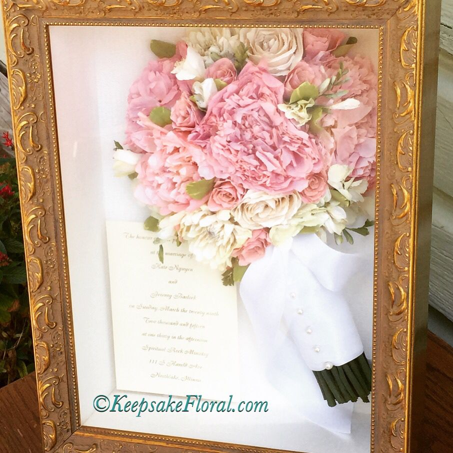 Pretty In Pink Preserved Bouquet In A Custom Shadow Box Your
