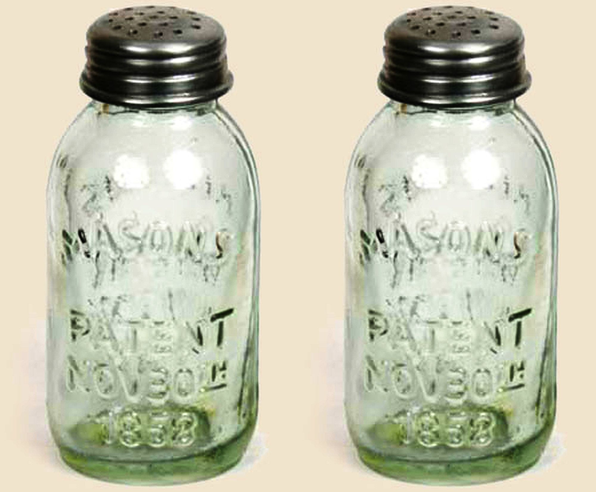 Unique Vintage Rustic Miniature Mason s Patent Nov 30th 1858 Salt