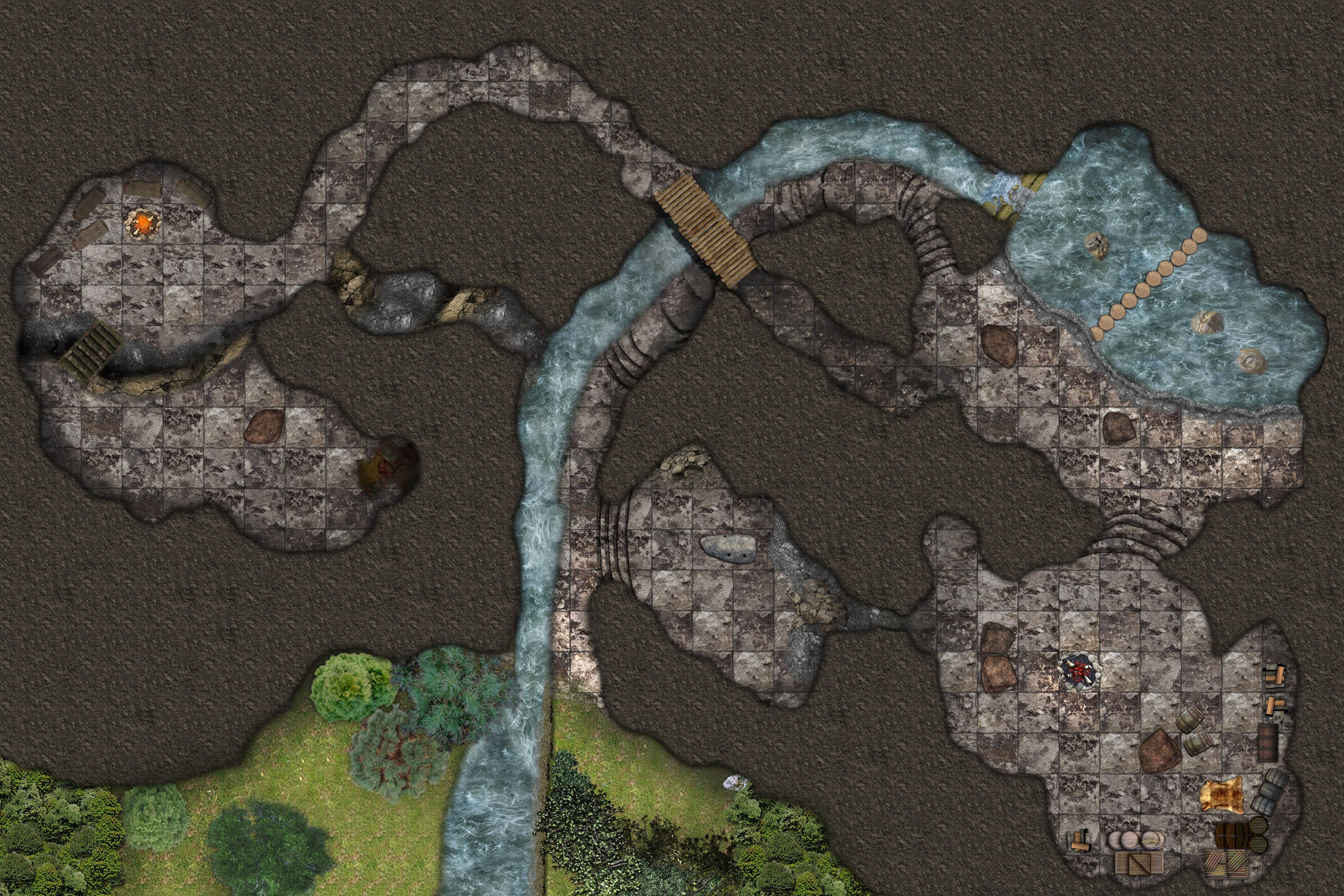 Cragmaw Hideout In 2020 Lost Mines Of Phandelver Dnd World Map Dungeon Maps
