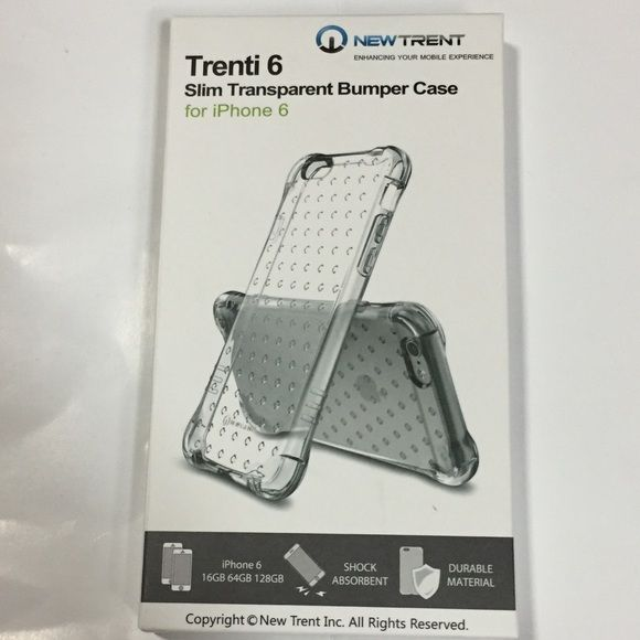 New iPhone 6/6s transparent clear durable case New clear transparent Trent Trenti Iphone 6/6s Durable, nice design,good construction, shock absorbent slim case Trent Trenti Accessories