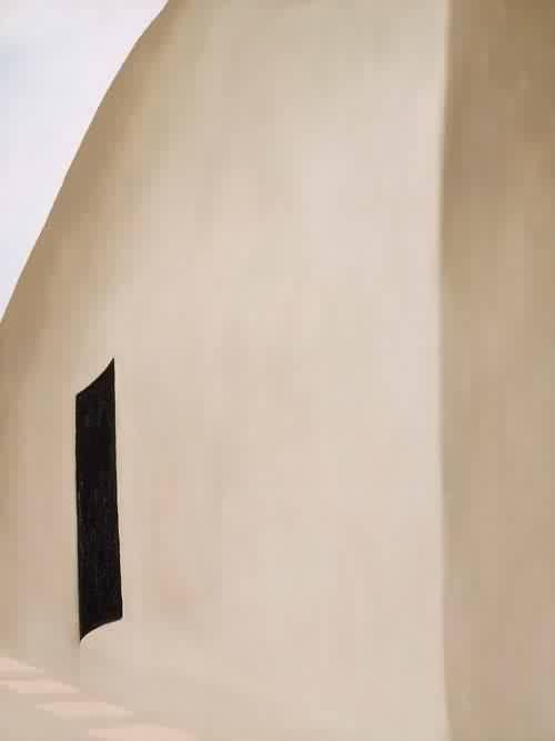 Yama Bato: Patio With Black Door 1955 Georgia O Keeffe