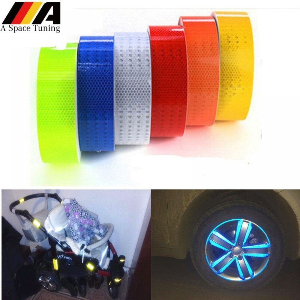 Reflective Tape Sticker Bicycle Diy Reflective Tape Adhesive