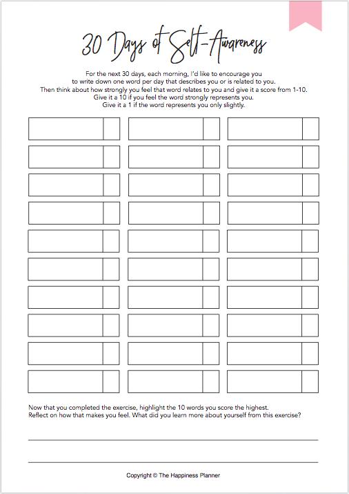 Printables Selfawareness Therapy Worksheets Self Awareness Self