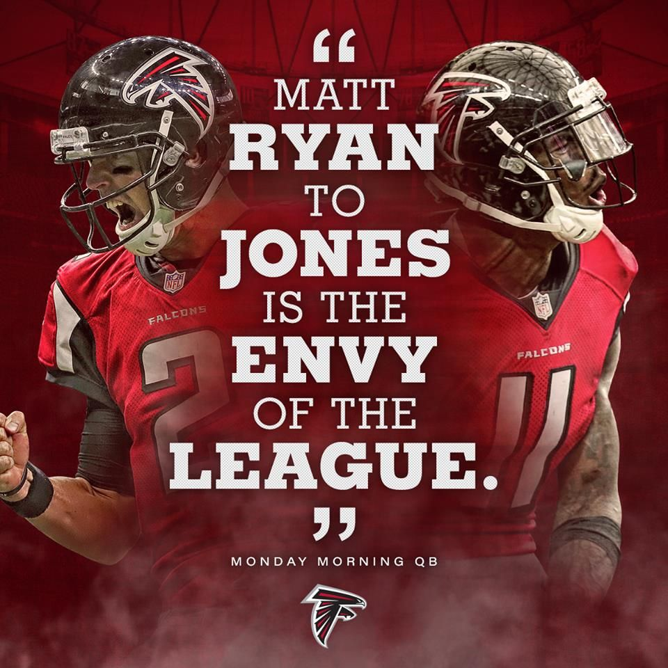 Atlanta Falcons Matt Ryan To Jones Is The Envy Of The League Atlanta Falcons Art Atlanta Falcons Wallpaper Atlanta Falcons Football