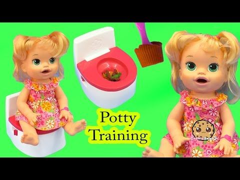 Potty Training Baby Alive Super Snacks Snackin Sara Poops Feed Doh Food Doll Toy Play Video Baby Alive Infant Potty Training Baby Alive Food