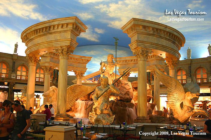 Caesars Palace Hotel And Casino Las Vegas With Its Roman Theme