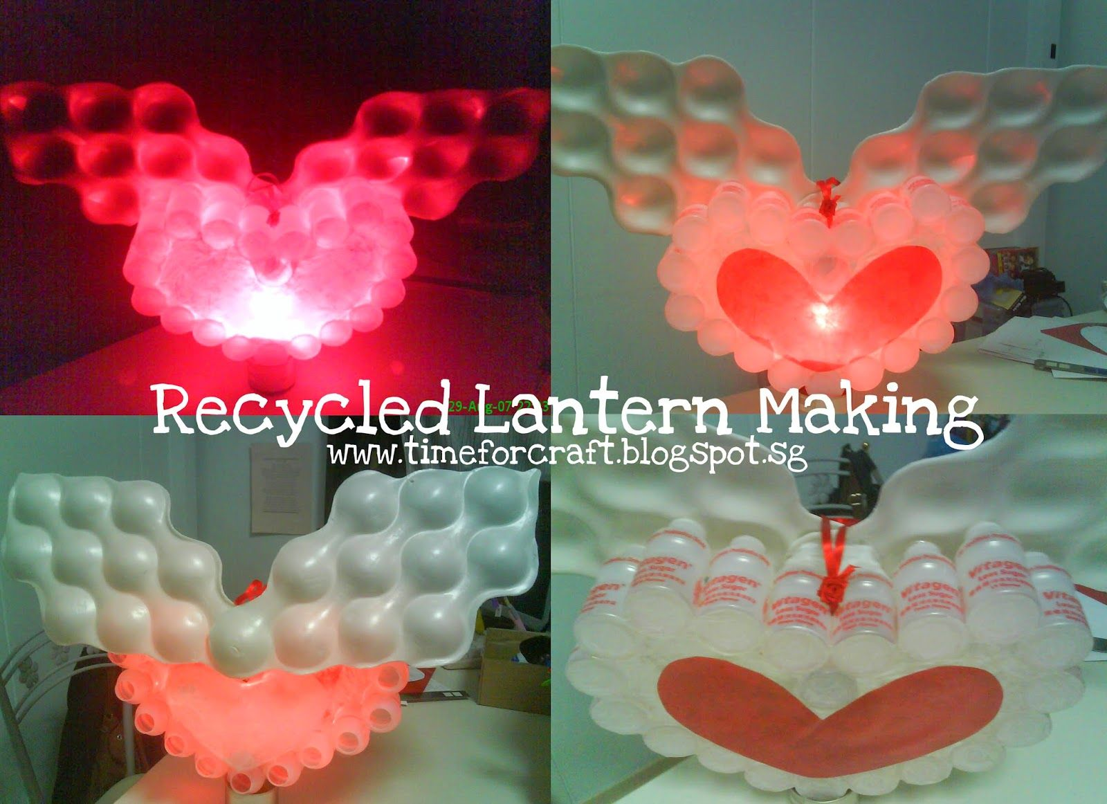 DIY Lantern Making, with recycled materials. www