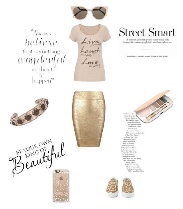 """""""Uniquely You"""" by saifai ❤ liked on Polyvore featuring Posh Girl, maurices, Casetify, Senso, Jane Iredale, House of Harlow 1960 and Fendi"""