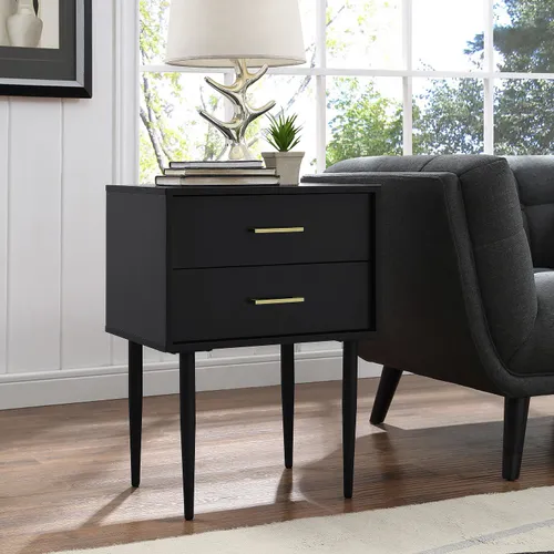 120 Olivia Black 2 Drawer Side Table Pier1 All Modern Furniture Side Table With Storage Furniture