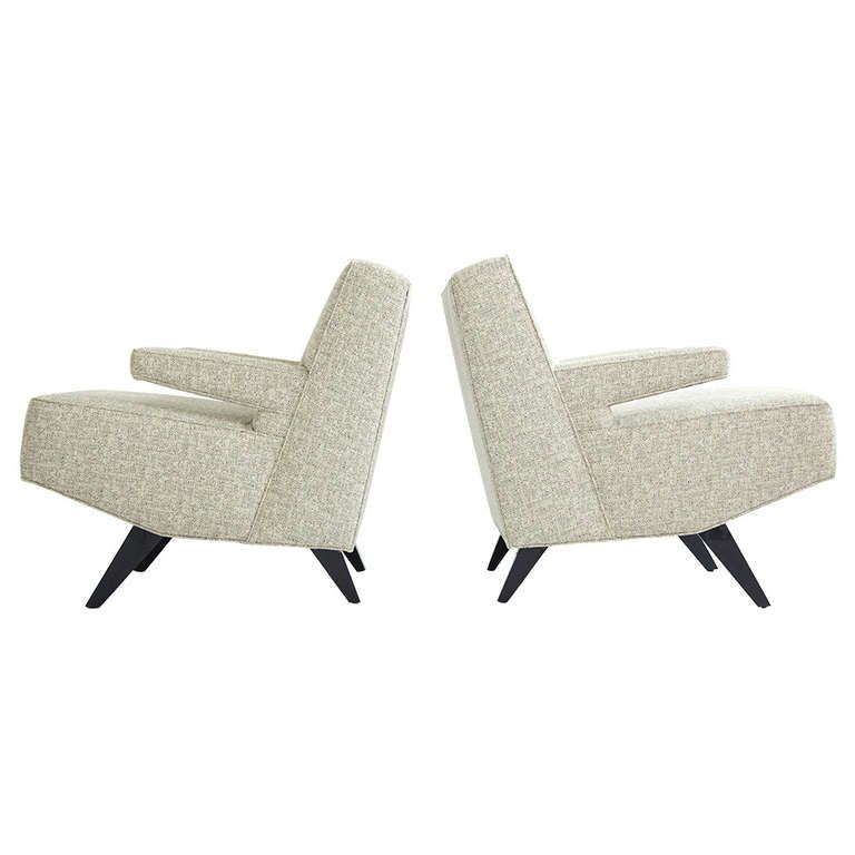 Custom Laszlo Lounge Chairs From A Beverly Hills California Estate, Ca
