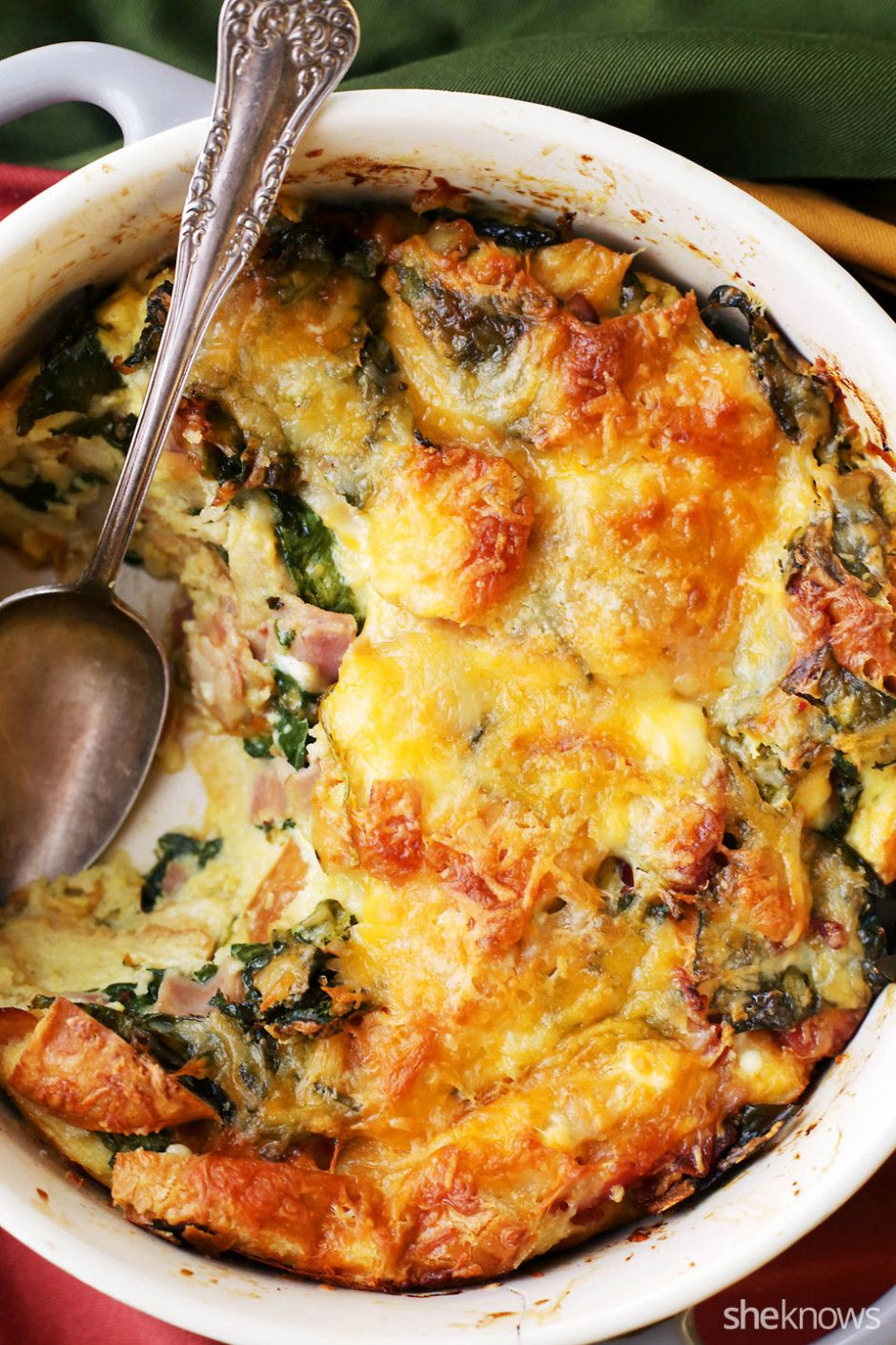 make ahead breakfast casserole means you dont spend christmas morning in the kitchen