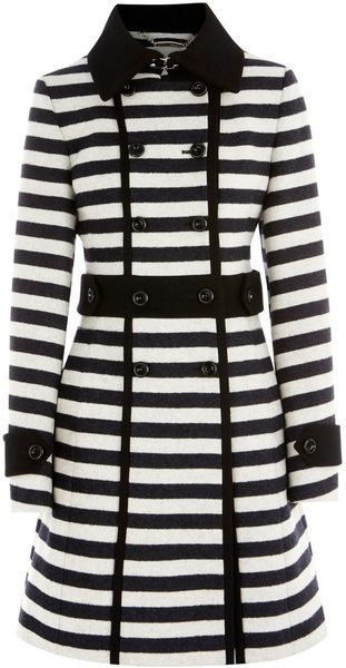 KAREN MILLEN ENGLAND   Graphic Stripe Coat